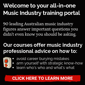 Music Industry Inside Out Music Course text widget sidebar